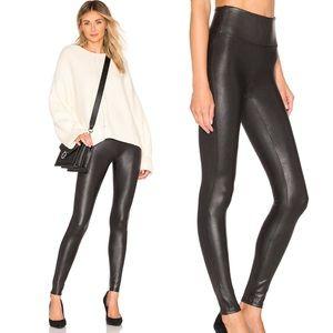 Spanx Faux Leather Leggings Black Anthropologie XL